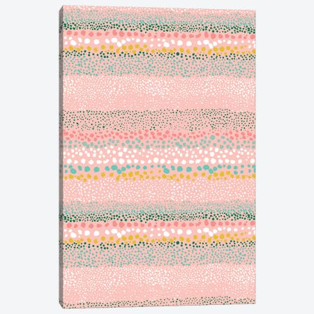 Little Textured Dots Pink Canvas Print #NDE59} by Ninola Design Art Print