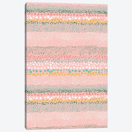 Little Textured Dots Pink Canvas Print #NDE59} by Ninola Design Art Print
