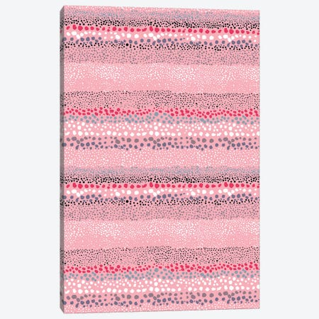 Little Textured Dots Rose Canvas Print #NDE61} by Ninola Design Canvas Art