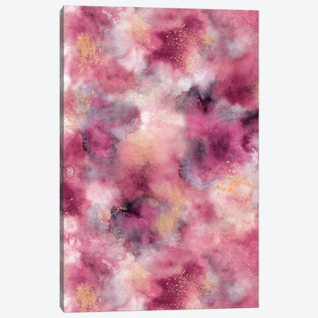 Marble Watercolor Gold Pink Canvas Print #NDE64} by Ninola Design Art Print
