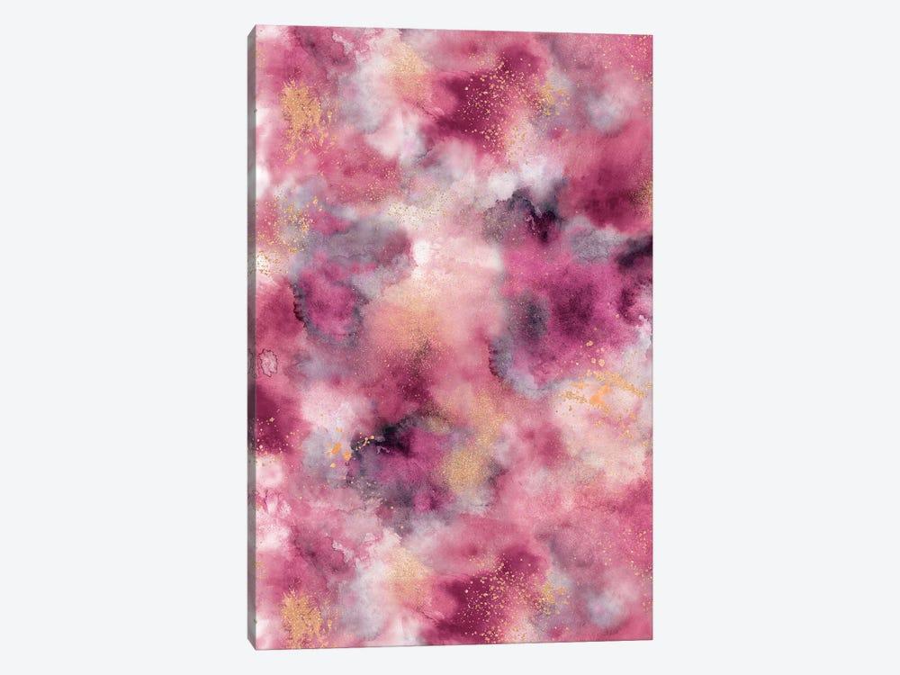 Marble Watercolor Gold Pink by Ninola Design 1-piece Art Print