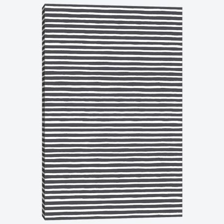 Marker Black Stripes Canvas Print #NDE65} by Ninola Design Canvas Art Print