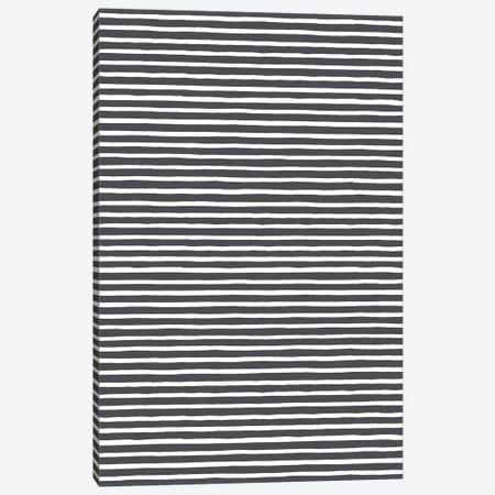 Marker Black Stripes Canvas Print #NDE65} by Ninola Design Canvas Art Print