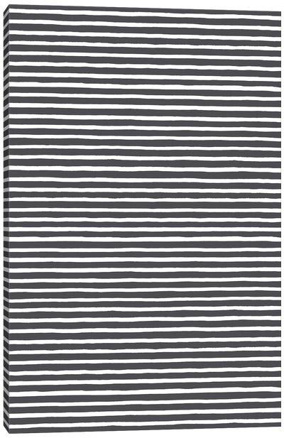 Marker Black Stripes Canvas Art Print