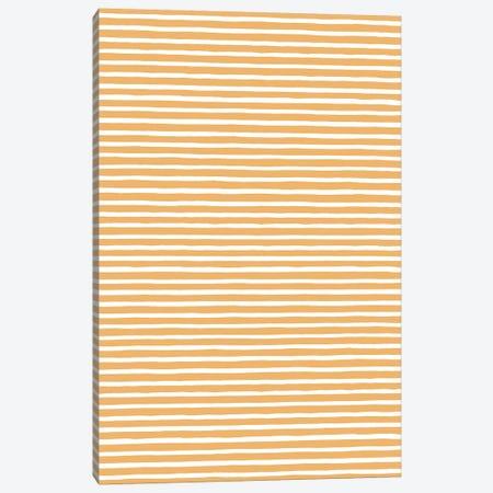 Marker Gold Stripes Canvas Print #NDE66} by Ninola Design Canvas Print