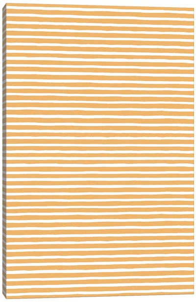 Marker Gold Stripes Canvas Art Print