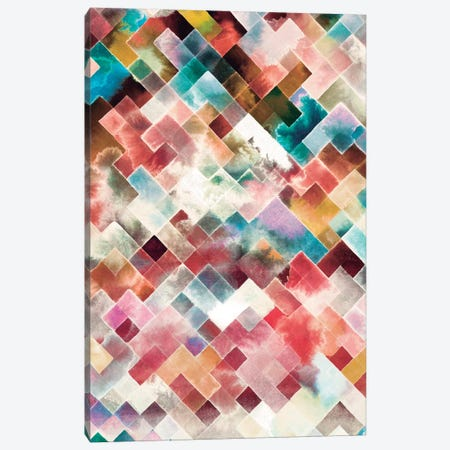 Moody Geometry Pink Canvas Print #NDE71} by Ninola Design Canvas Art Print