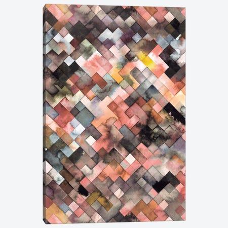 Moody Geometry Rustic Canvas Print #NDE72} by Ninola Design Art Print
