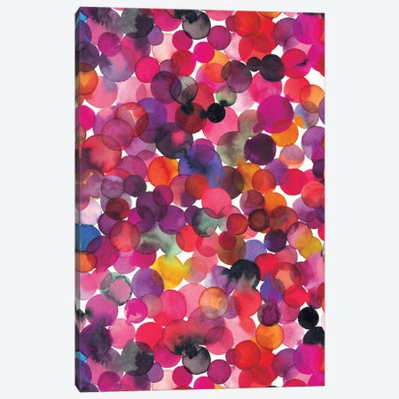Overlapped Watercolor Dots Multi Canvas Print #NDE77} by Ninola Design Canvas Art