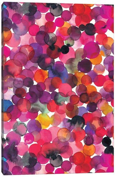 Overlapped Watercolor Dots Multi Canvas Art Print