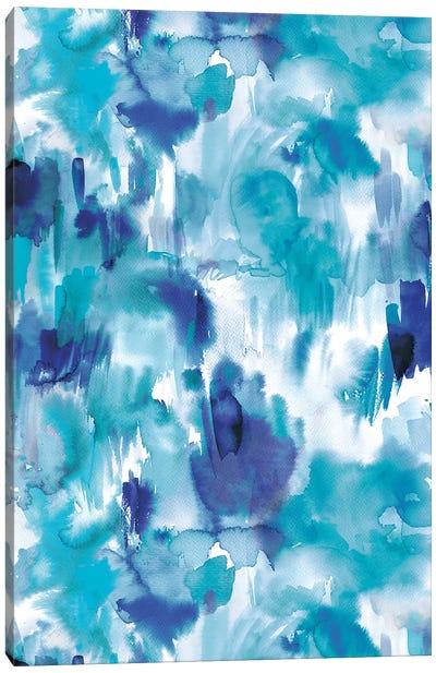 Painterly Texture Blue Canvas Art Print