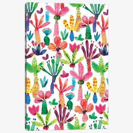 Palms Kids Garden Canvas Print #NDE79} by Ninola Design Canvas Art Print