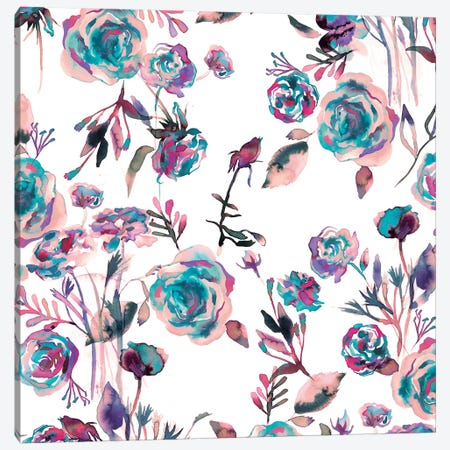 Roses Bouquet Mauve Canvas Print #NDE83} by Ninola Design Canvas Artwork