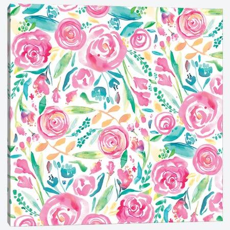 Spring Roses Pastel Canvas Print #NDE87} by Ninola Design Canvas Art Print