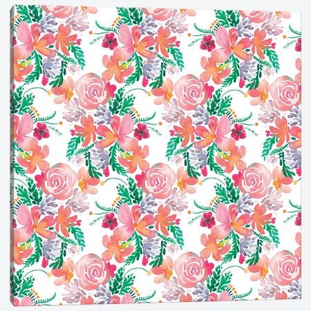Sweet Flowers Bouquet Pink Canvas Print #NDE88} by Ninola Design Canvas Wall Art