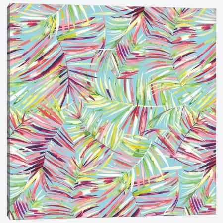Tranquility Tropical Palms Canvas Print #NDE92} by Ninola Design Canvas Art Print