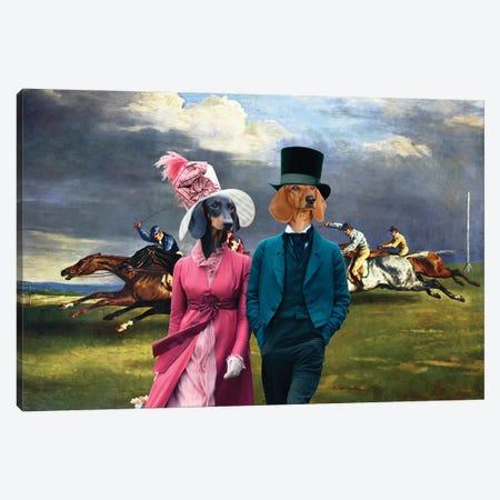 Dachshund Derby In Epsom Canvas Print #NDG1003} by Nobility Dogs Canvas Art Print
