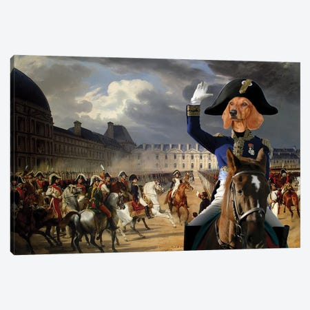 Dachshund Napoleon At The Parade Canvas Print #NDG1005} by Nobility Dogs Canvas Wall Art