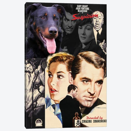 Beauceron Suspicion Movie Canvas Print #NDG1031} by Nobility Dogs Canvas Wall Art