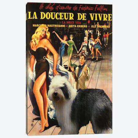 Old English Sheepdog La Dolce Vita Canvas Print #NDG1039} by Nobility Dogs Canvas Artwork