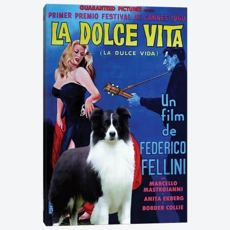 Border Collie La Dolce Vita Canvas Print #NDG1043} by Nobility Dogs Art Print