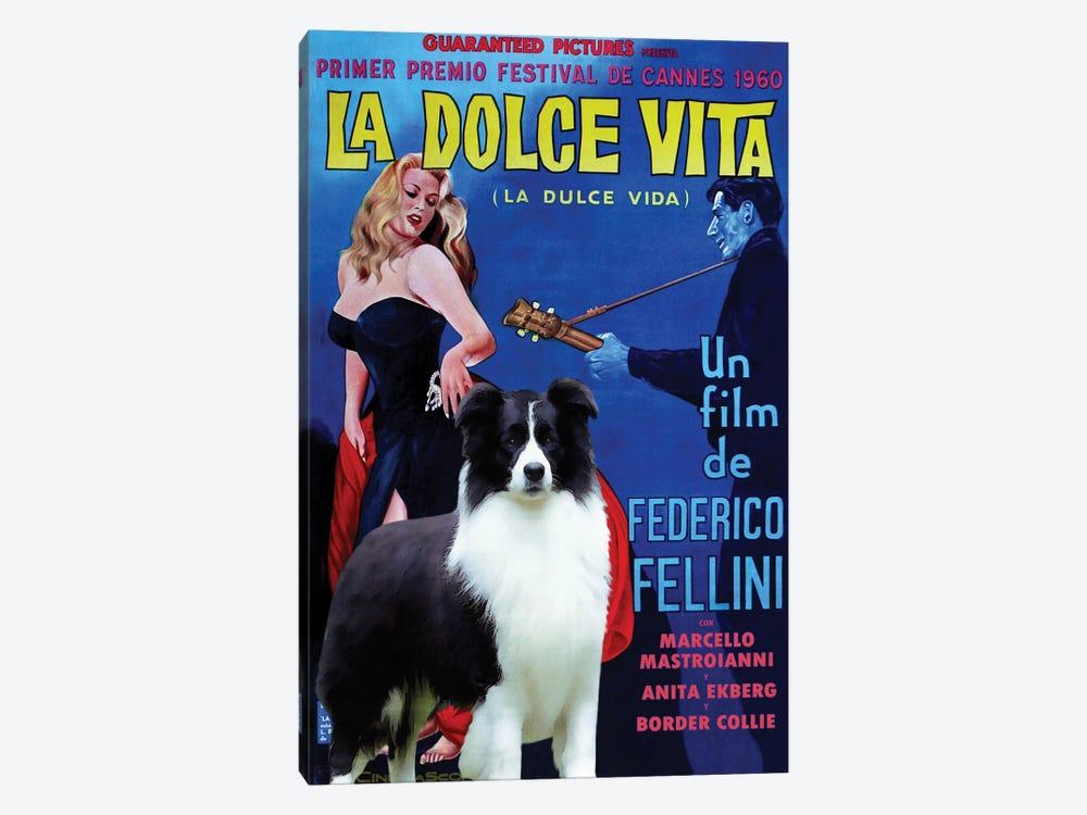 Border Collie La Dolce Vita by Nobility Dogs 1-piece Canvas Art