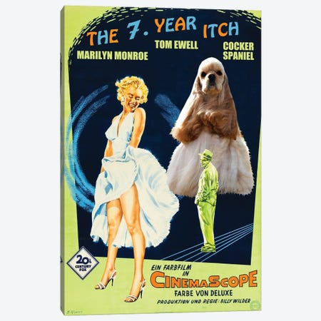 Cocker Spaniel The Seven Year Itch Canvas Print #NDG1050} by Nobility Dogs Canvas Wall Art