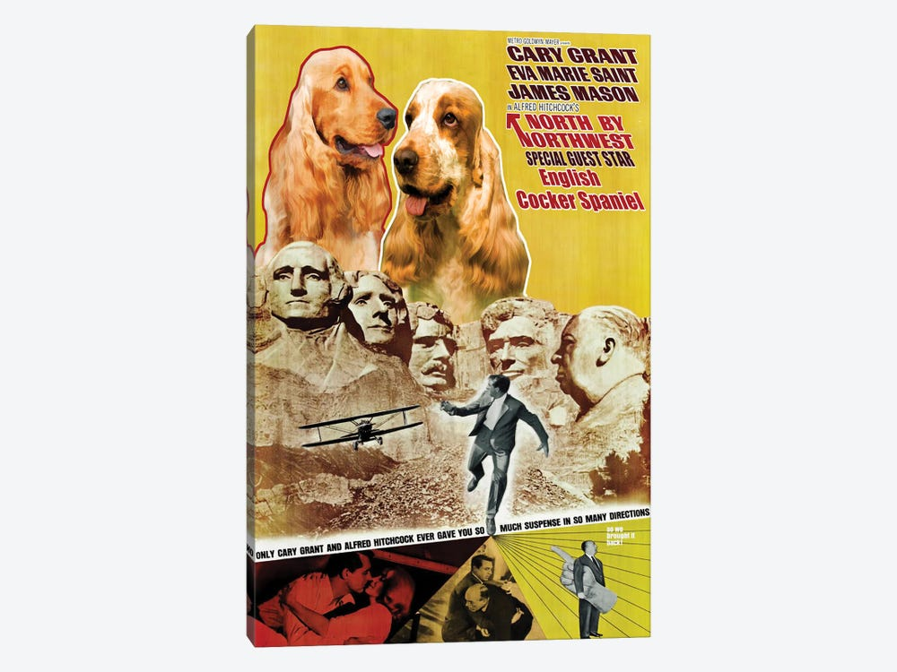English Cocker Spaniel North By Northwest by Nobility Dogs 1-piece Canvas Wall Art