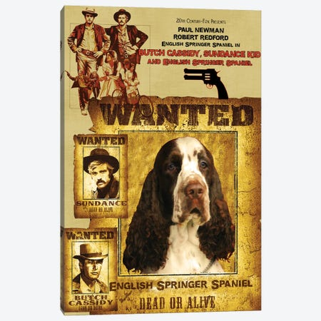 English Springer Spaniel Butch Cassidy And The Sundance Kid Canvas Print #NDG1064} by Nobility Dogs Canvas Wall Art