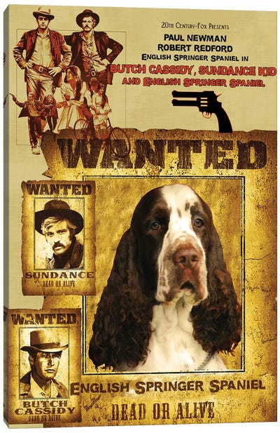 English Springer Spaniel Butch Cassidy And The Sundance Kid Canvas Art Print