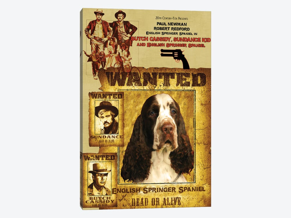 English Springer Spaniel Butch Cassidy And The Sundance Kid by Nobility Dogs 1-piece Canvas Art Print