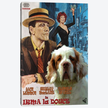Clumber Spaniel Irma La Douce Canvas Print #NDG1070} by Nobility Dogs Canvas Art