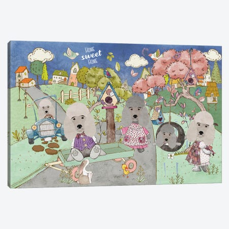 Poodle Home Sweet Home Canvas Print #NDG1099} by Nobility Dogs Canvas Wall Art