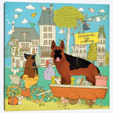 German Shepherd Adventure Time Canvas Print #NDG1110} by Nobility Dogs Canvas Print