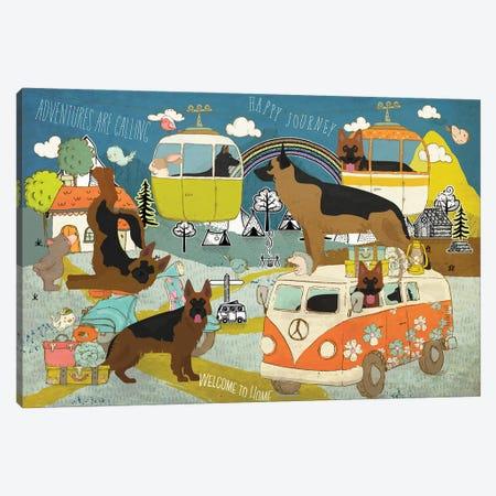 German Shepherd Happy Journey Canvas Print #NDG1112} by Nobility Dogs Canvas Print