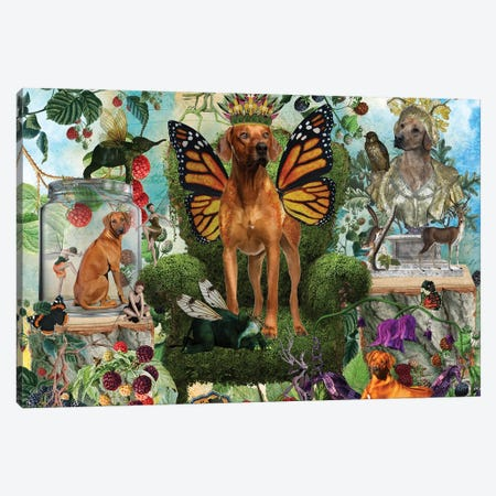Rhodesian Ridgeback Berry Paradise Canvas Print #NDG1133} by Nobility Dogs Canvas Print