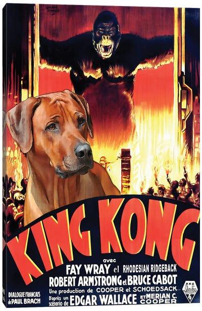 Rhodesian Ridgeback King Kong Canvas Art Print