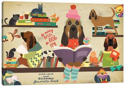 Bloodhound Book Time Canvas Art Print
