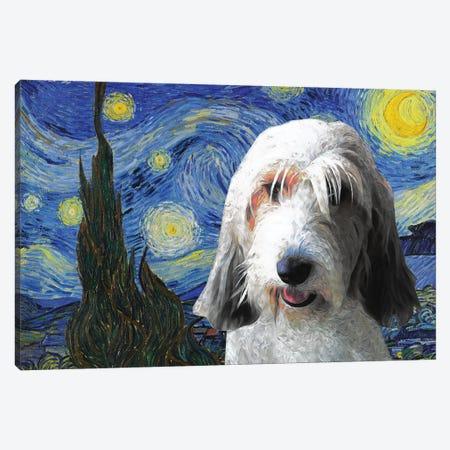 Petit Basset Griffon Vendeen The Starry Night Canvas Print #NDG1167} by Nobility Dogs Canvas Art Print
