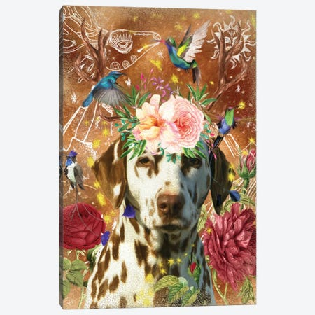 Dalmatian Dog With Antlers Canvas Print #NDG1172} by Nobility Dogs Canvas Print