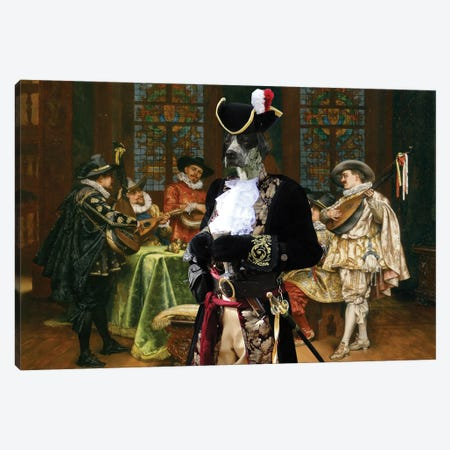 English Pointer Troubadours Canvas Print #NDG1186} by Nobility Dogs Canvas Art Print