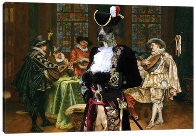 English Pointer Troubadours Canvas Art Print
