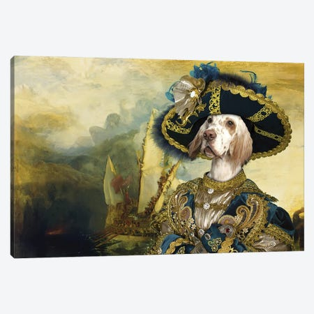 English Setter The Return Of The New World Canvas Print #NDG1199} by Nobility Dogs Canvas Art Print