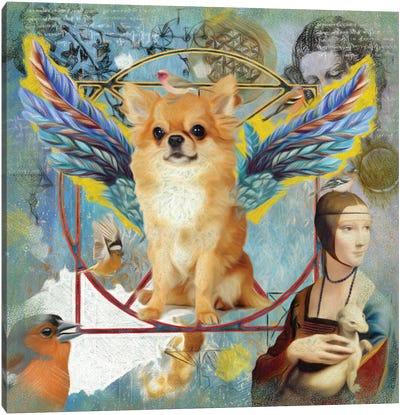 Chihuahua Angel Da Vinci Canvas Art Print