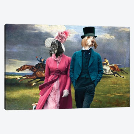 English Setter Derby In Epsom Canvas Print #NDG1201} by Nobility Dogs Canvas Art Print