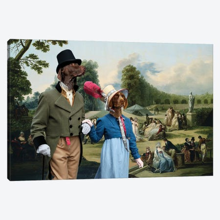 German Shorthaired Pointer The Summer Party Canvas Print #NDG1203} by Nobility Dogs Art Print
