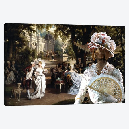 German Shorthaired Pointer The Garden Party Canvas Print #NDG1206} by Nobility Dogs Canvas Artwork