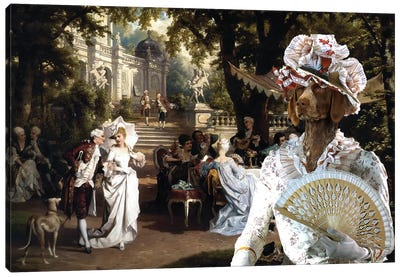 German Shorthaired Pointer The Garden Party Canvas Art Print
