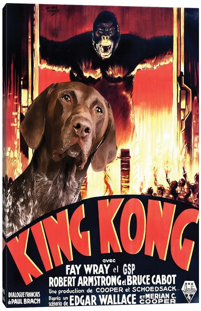 German Shorthaired Pointer King Kong Canvas Art Print