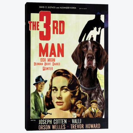 German Shorthaired Pointer The Third Man Canvas Print #NDG1208} by Nobility Dogs Canvas Art Print